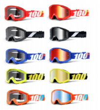 New Youth Junior 100% Strata Goggles Motocross Downhill BMX Clear Or Mirror Lens